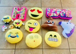 Emoji pillows - whole lot for $20