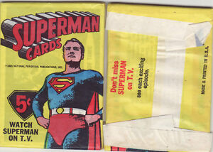 1965 PACK OF SUPERMAN CARDS 5 CARDS IN PACK