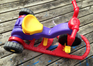 fisher-price rock roll 'n ride trike with good condition