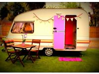 2 Berth Caravan with large awning. Fully equipt with toilet, fridge, oven. Many extras