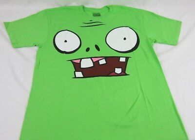 Face Plant T-shirt (Mens NEW Plants vs. Zombies Lime Green Big Face T-Shirt Size M 2XL )