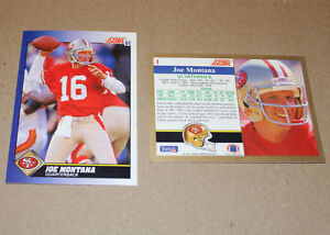 Score 1991 football cards