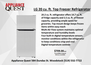 Scratch & Dent 20 Cu.Ft LG Fridge