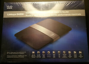 Brand New Cisco Linksys E4200 Dual-Band Wireless-N Router