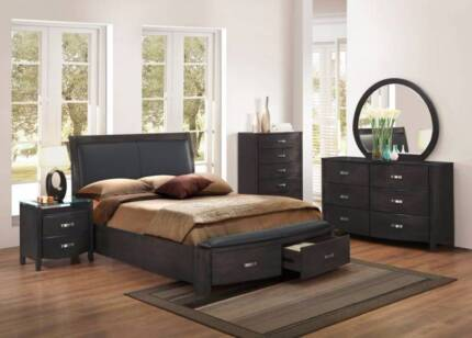 Lyric King Bed Frame In Charcoal AV At Wangara showroom Only