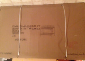 New!!! Still in box and bags bunk bed. Must see!!!