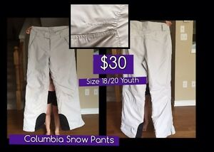 Columbia Youth/young adult Snow Pants