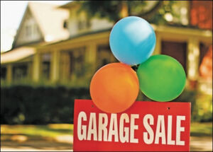 TODAY GARAGE SALE 8 AM TO 12 PM
