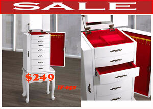 Jewelry cabinets w. drawer, makeup Vanity Table w mirror, IF-058