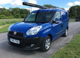 2013 Fiat Doblo Cargo 1.3 Multijet SWB SX S/S Diesel Van in Blue *62,200 Miles*