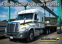 Flat Bed Owner Operators Wanted