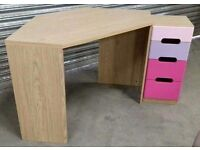 mdf corner PC desk with drawers + chair In perfect as new condition Desk1.20x60x73 chest 30x30