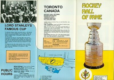 1980s Hockey Hall of Fame Toronto Canada Brochure Stanley Cup/Bobby Orr/Richard