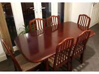 Dining Table Set with 6 Chairs. Mahagony.