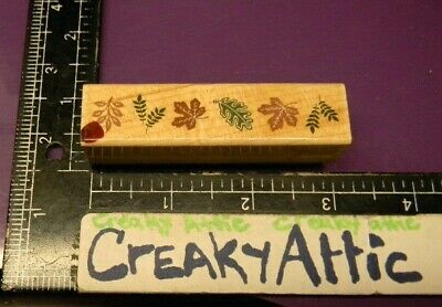 TINY LEAVES BORDER OAK MAPLE FERN RUBBER STAMPS HERO ARTS  -