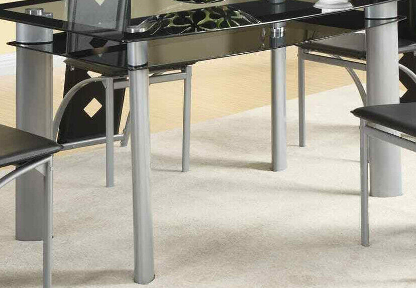 Coaster Fontana Dining Table BASE ONLY * Matte Silver Metal