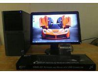 """QUICK & FAST SSD Dell Optiplex 980 4 Quad Core CAD Desktop Computer PC With Dell 21"""""""