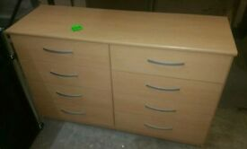 A brand new good quality beech effect finish 4x4 drawer chest.