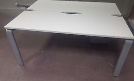 office desk workstation white with 2 positions can be use as meeting table