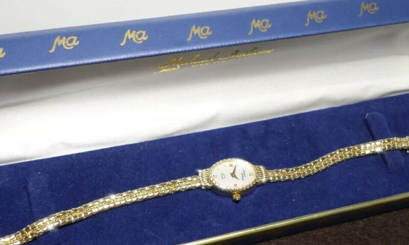 Vintage Michael Anthony Karat Gold Collection 14K Solid Gold Ladies Watch