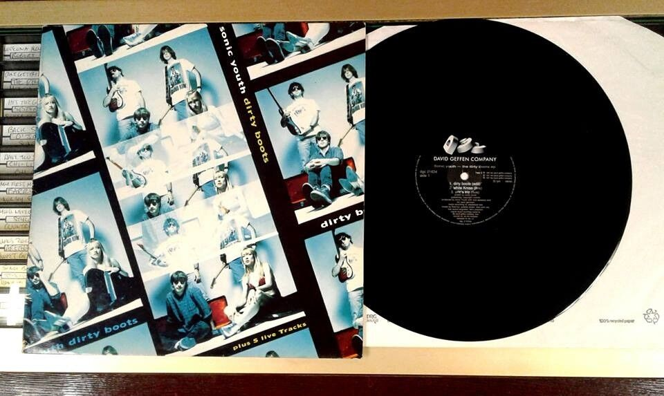 Sonic Youth – Dirty Boots, VG, 12 inch single released on DGC in 1991, Grunge Indie Rock