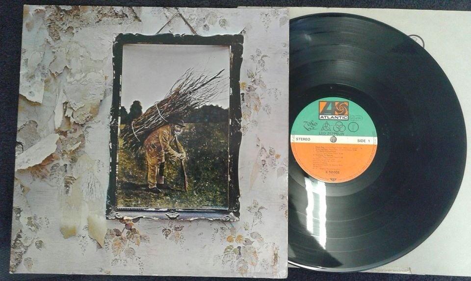 Led Zeppelin – Untitled, VG, reissue released on Atlantic in 1972, Heavy Rock