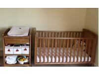 Much Loved Troll Nursery Furniture. Beautiful matching cradle, cot/bed and changing station