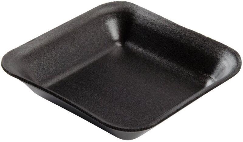 50 x Small Black Foam Polystyrene Meat Fish Veg Packing Tray