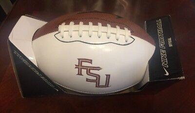 5298d6143732 Nike Florida State Seminoles FSU Football White Official NCAA FT0282-114  Size 9