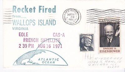 Satellite Rocket - EOLE CAS-A FRENCH SATELLITE ROCKET FIRED WALLOPS ISLAND VA AUGUST 16 1971