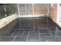 Natural black Limestone sawn edge 18.9m pack
