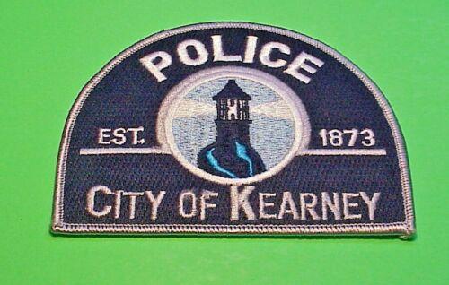"""KEARNEY  NEBRASKA  NE  ( LIGHTHOUSE )    3 3/4 x 4 3/4""""  POLICE PATCH"""