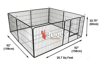 DOGGY STYLE 8 SIDED HEAVY DUTY PUPPY PLAY PEN WHELPING DOG CAGE FENCE DS-HD01S