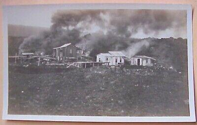 "1920's Kilauea Lava Engulfs Hoopuloa Village 1926 TH Hawaii 3"" x 4 3/4"""