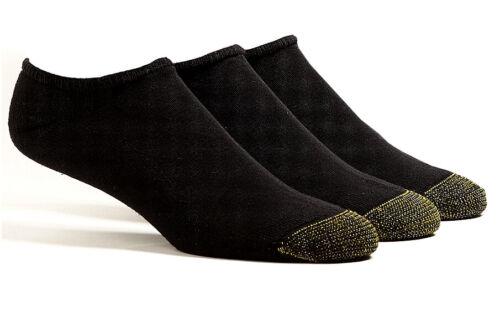 $36 Gold Toe Men'S 3-Pair Pack No Show Liner Ankle Socks Bla