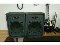 PA Speakers 2 x 150W
