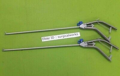 Laparoscopic Storz Type Needle Holder Curved Left Straight Jaw Instrument 5mm
