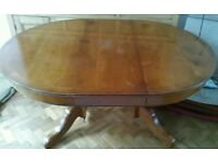 French Polished Extendable Table