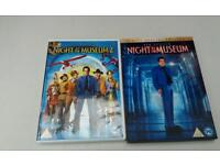 Night at the museum and night at the museum 2 dvd's