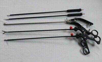 Laparoscopic Storz Type Straight Jaw Needle Holder Grasper Instruments Set 5pc