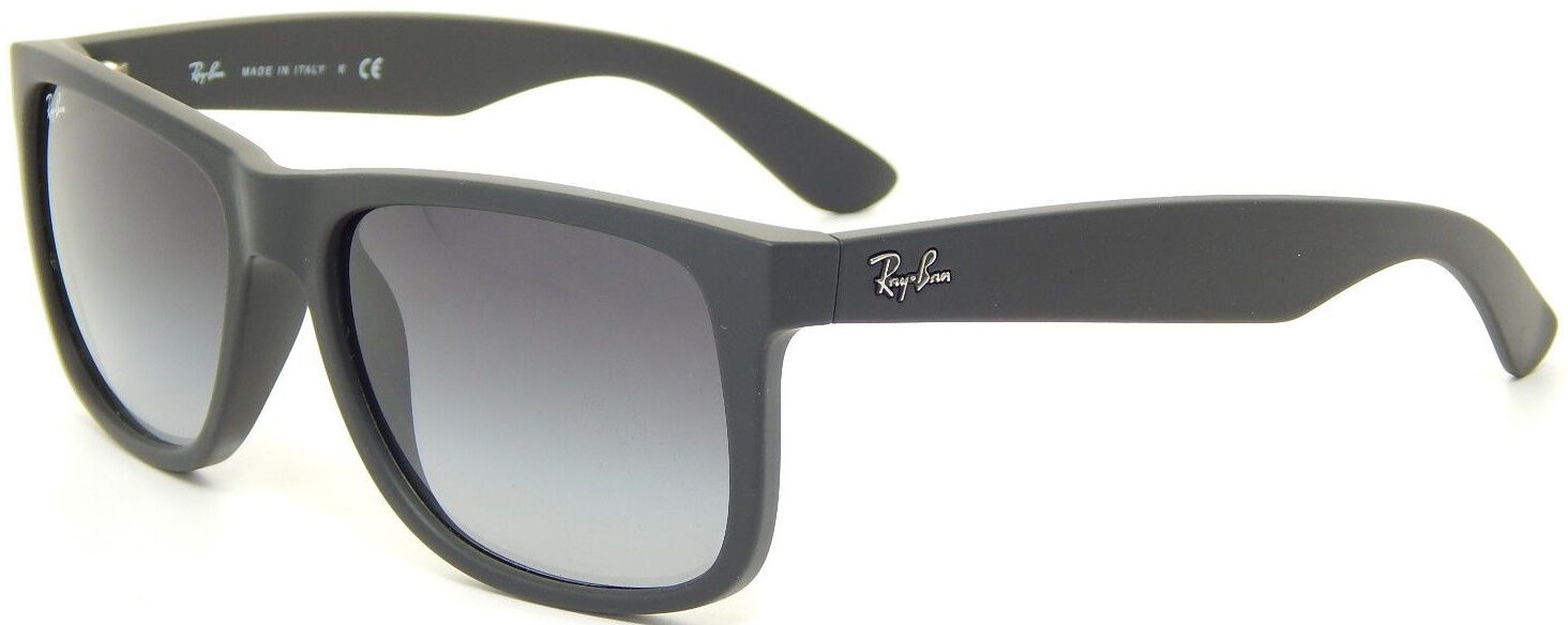 latest ray bans sunglasses  a funky cousin of the wayfarer, the ray ban justin features a slightly larger and more rectangular frame shape along with a rubberized finish on the frame.