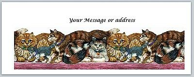 30 Personalized Return Address Labels Cats Buy 3 Get 1 Free Ct 240