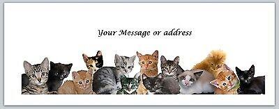30 Personalized Return Address Labels Cats Buy 3 Get 1 Free Ct 235