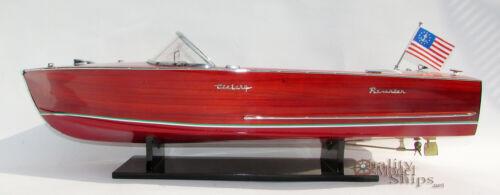 Century Resorter 1958  Handmade Wooden Model Speedboat