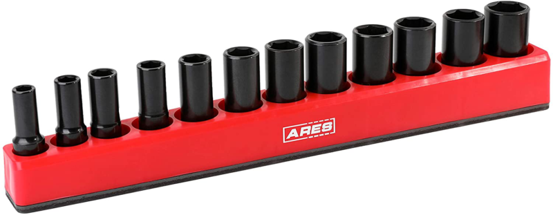 ARES 71237-12-Piece 3/8-Inch SAE Deep Magnetic Socket Holder - Holds 12 Deep Soc - $18.57