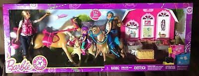 Barbie Pink Passport Horses And Ranch Gift set Free Shipping