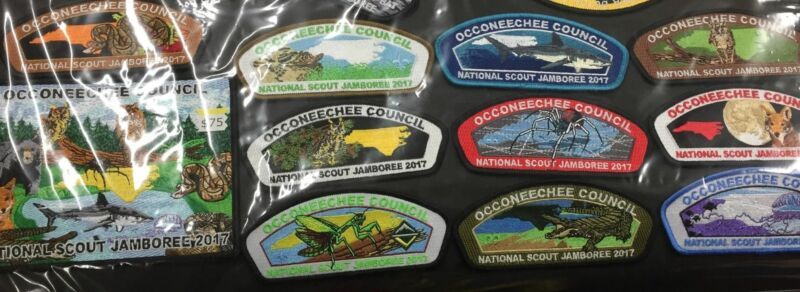 2017 National Jamboree 12 Piece Occoneechee Council Set [JAMBO]