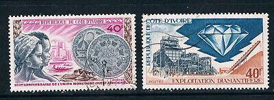 Ivory Coast 1972 Monetary Union & Diamond Industry o/FU SG 395-6
