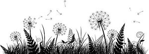 X2 Nature Grass Leaf Fern Hippy Forest Garden Dandelion Car Wall Stickers Decal
