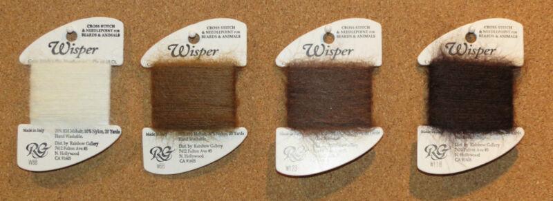Rainbow Gallery Wisper Very Furry Fiber - 2 Cards - Thread - Needlepoint